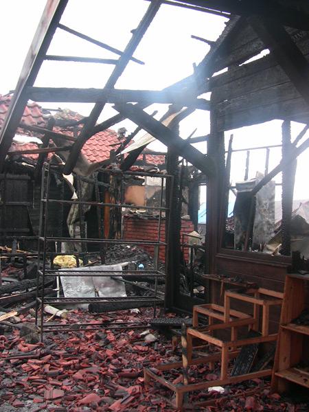Ostaci posle požara na Pijaci 16.02.2013