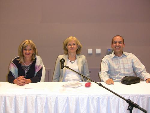 Moderator, sudija Jasmina Stamenković i dr Nikola Bodiroga