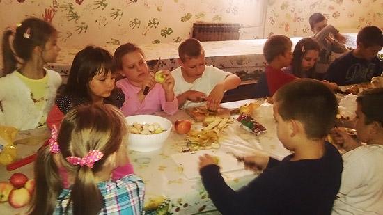 Spremanje voćne salate OŠ Milivoje Borović